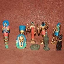 Antigo egípcio acessórios em miniatura mito rainha faraó tutankhamen múmia anubi deusa isis figura de ação estatueta modelo brinquedos