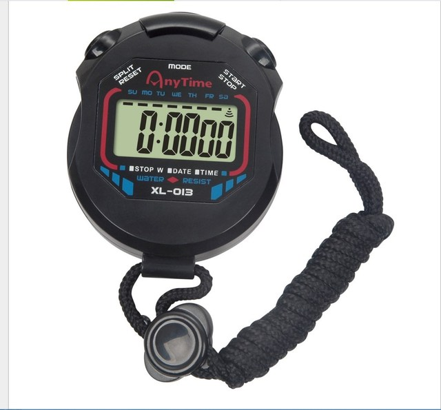 Classic Digital Professional Handheld LCD Chronograph Sports Stopwatch Timer Stop Watch With String 2020 New Sale