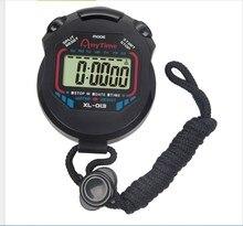Klasyczny cyfrowy profesjonalny ręczny LCD chronograf sportowy ze stoperem zegarek ze stoperem ze sznurkiem 2020 nowa sprzedaż