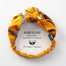 Yangliujia Vrouwen Haaraccessoires Mode Hoofdband Stof Cross Geknoopt Boog Chiffon Bloemen Haarband Korea Hoofdtooi Dames Hoop