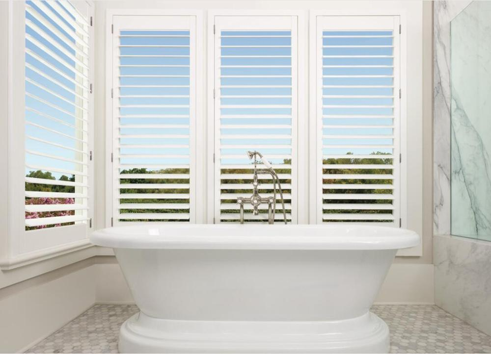 Custom Basswood Plantation Shutters Wooden Blinds Solid Wood Shutter Louvers PS292