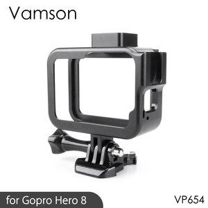 Image 1 - Vamson Vlog Aluminium alloy Housing Case for GoPro Hero 8 Black Vlogging Cage Frame Shell with Mic Cold Shoe Mount VP654