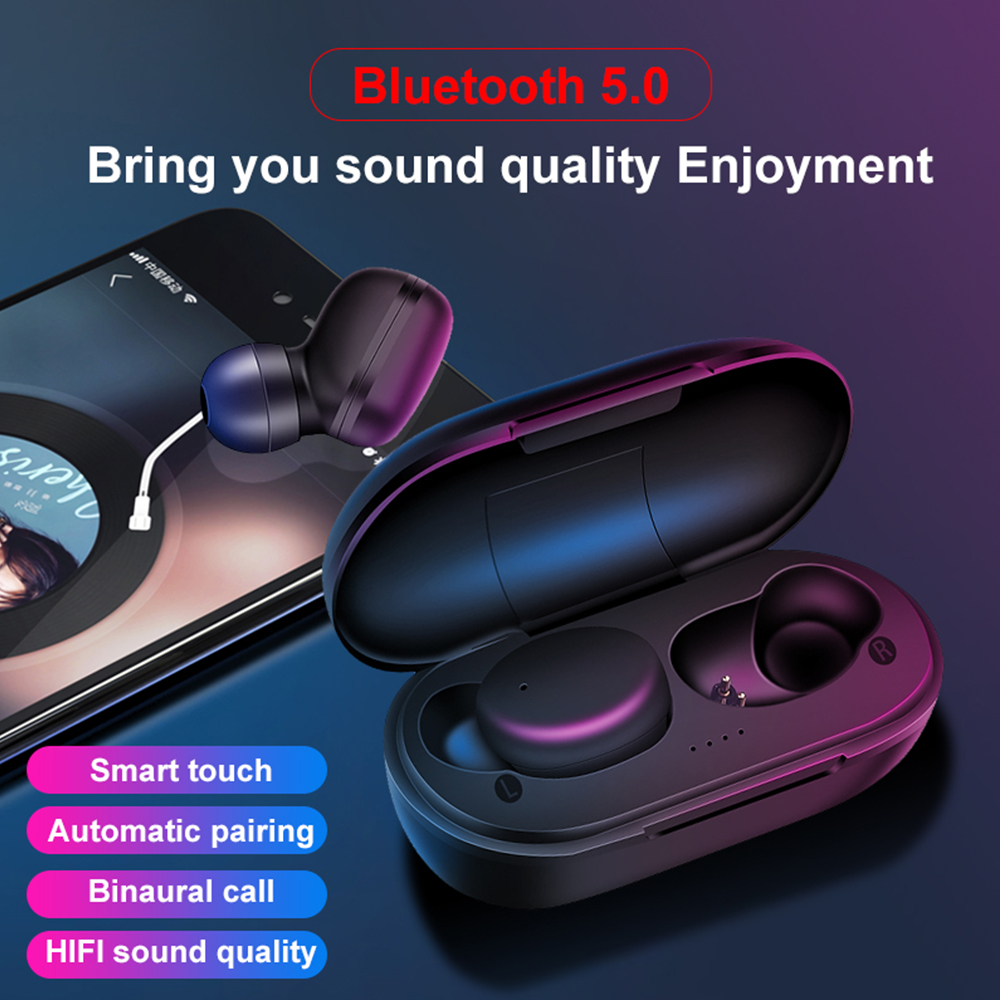 A6x Wireless Bluetooth 5.0 Earphone <font><b>TWS</b></font> Touch Invisible Headset Stereo Music Sport 45/280mah Battery Noise Reduction For xiaomi image