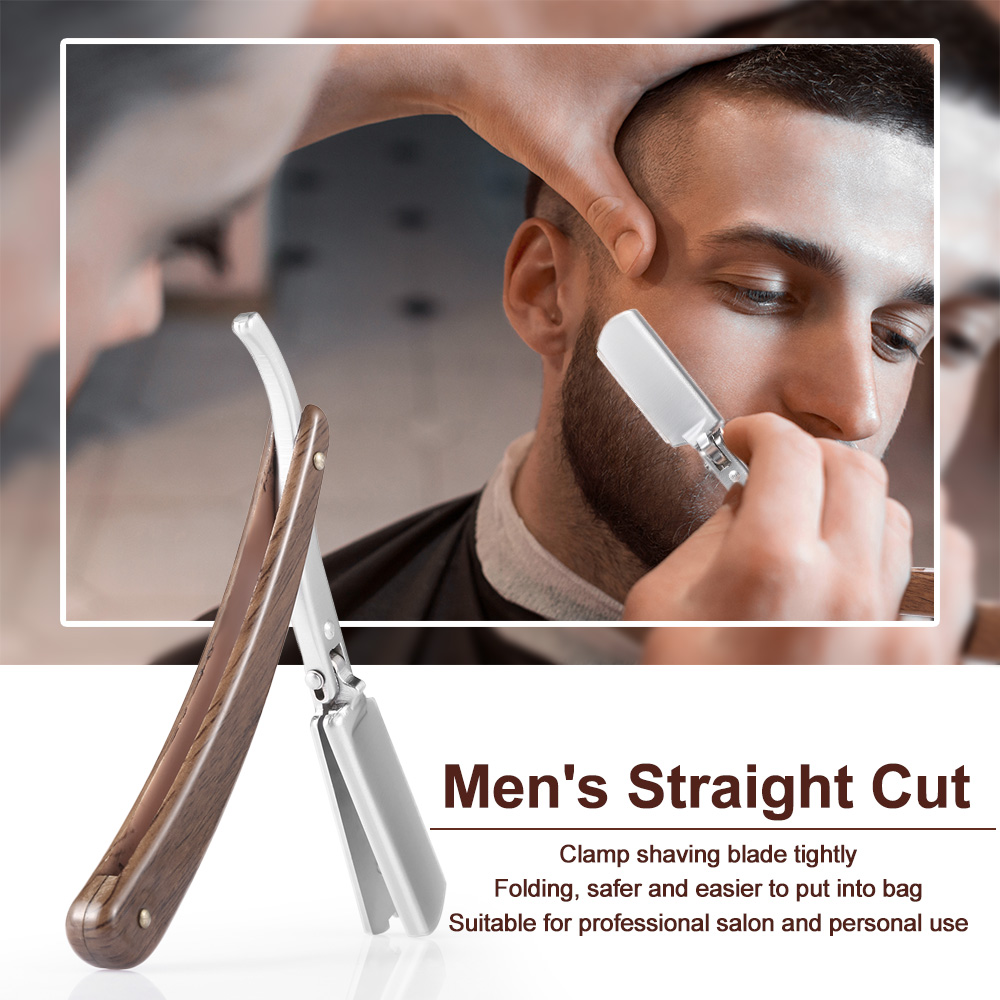 Antique Men's Straight Edge Shaving Razor Professional Male Folding Shaving Tool For Barber  Stainless Steel Barber Razor