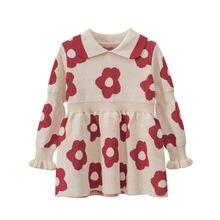 Платье свитер для девочек; Новинка 2020 года; Детская одежда;