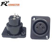 100 шт./лот XLR гнездо гнезда 3 Pin мама XLR панель монтажа шасси высокое качество пластиковый XLR проводной разъем оптовая продажа