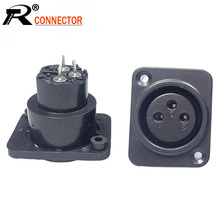 100pcs/lot XLR Jack Socket 3 Pin Female XLR Panel Mount Chassis High Quality Plastic XLR Wire Connector  Wholesales