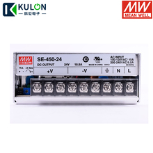 Oryginalny MEAN WELL SE 450 24 450W 18.8A 24V zasilacz Meanwell AC 110V/220V do DC 24V SMPS 2 lata gwarancji