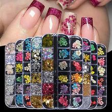 Набор сухих цветов для дизайна ногтей ювелирные украшения иммортный
