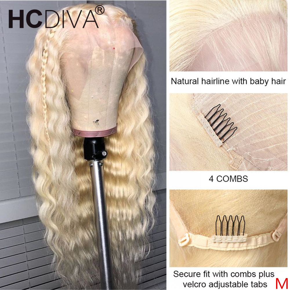 613 Deep Wave Wig 13x4 /360 Lace Front Wig Brazilian Remy Human Hair Wig For Black Women Transparent Lace Front Wig Pre Plucked