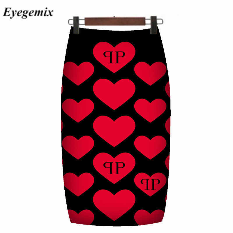 Moda ocidental lindo floral impressão feminina lápis saias S-XXL moda senhoras bodycon saias meninas faldas magro bottoms