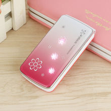 Lady's Beautiful Slim Mobile Phone 2G GSM Flip   Dual Sim Camera MP3 Cute For Student Girls Light Simply Working