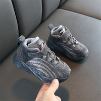 DIMI 2019 Winter Warm Baby Shoes Girl Boys Sport Shoes Fashion Genuine Leather Soft Kid Running Shoes Non slip Child Sneakers