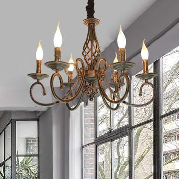 Rustic Chandelier 6 Lights Metal in Antique Bronze Farmhouse Chandeliers Lamp Vintage Fixture For Livingroom Lightings