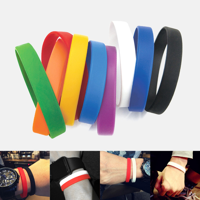 Silicone Rubber Wristband Basketball Sports Wristbands Flexible Hand Band Cuff Bracelets Casual For Women Men Hand Accessories