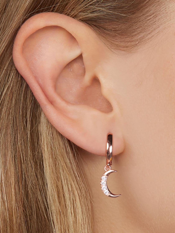 SILVERHOO Classic Geometric Women Dangle Earrings Asymmetric Earrings Star and Moon Female Korean Silver 925 Jewelry New Arrival