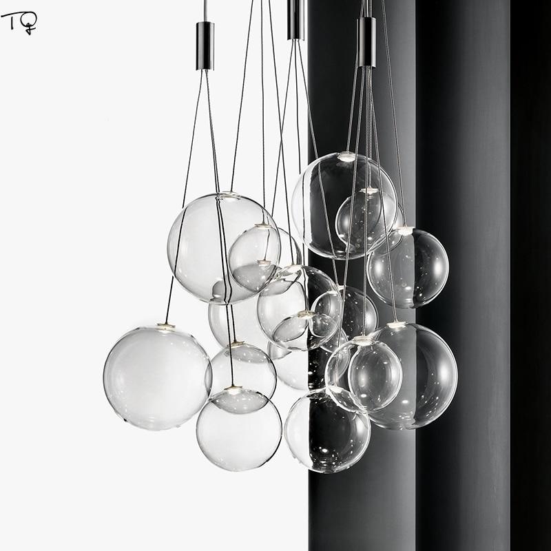 Nordic Creative Individual Glass Bubble Pendant Lihgts Modern Simple Hanging Lamp Bar Living Room Restaurant Bedroom Study Hall