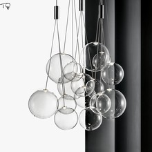 Nordic Creative Individual Glass Bubble Pendant Lihgts Modern Simple Hanging Lamp Bar Living Room Restaurant Bedroom Study Hall(China)