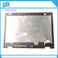 For Acer Spin 5 SP513 52 SP513 52N N17W2 13.3 New Laptop Touch Digitizer LCD Screen Panel LM133LF1L02 Display With Frame Bezel