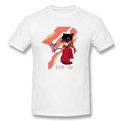 Pixel art Asuka T Shirt popularna męska koszulka z krótkim rękawem męska biała koszulka z nadrukiem evangelion letnie duże koszulki bawełniane bluzki 4