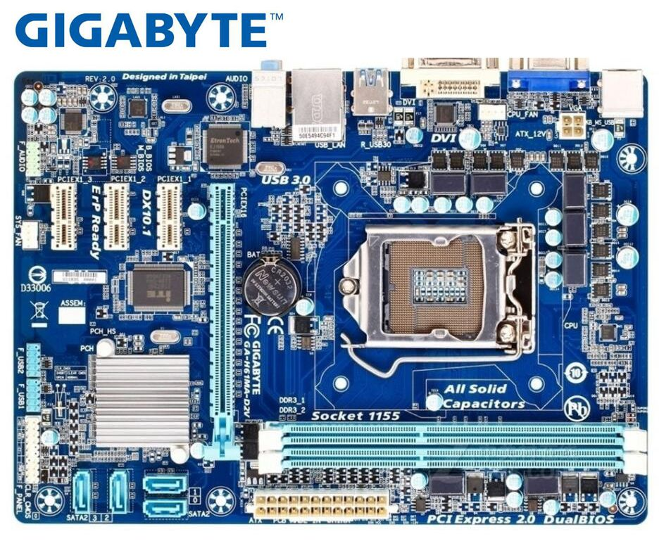 GIGABYTE GA-H61MA-D2V Mainboard  H61 Socket LGA 1155 I3 I5 I7 DDR3 16G UATX Used H61MA-D2V Desktop Motherboard