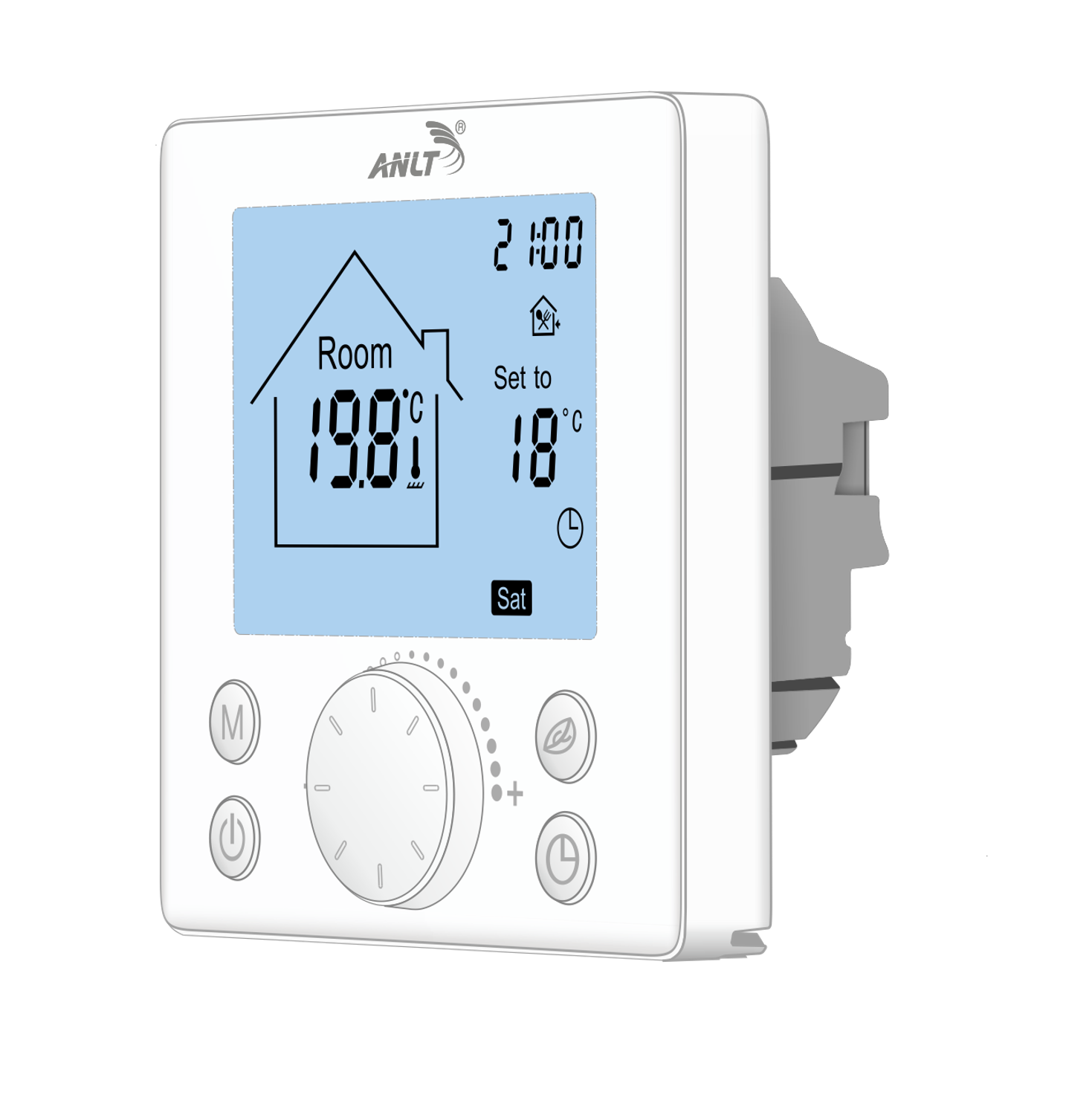 Thermostat with sensor for floor heating 110 120 220 230V 16A