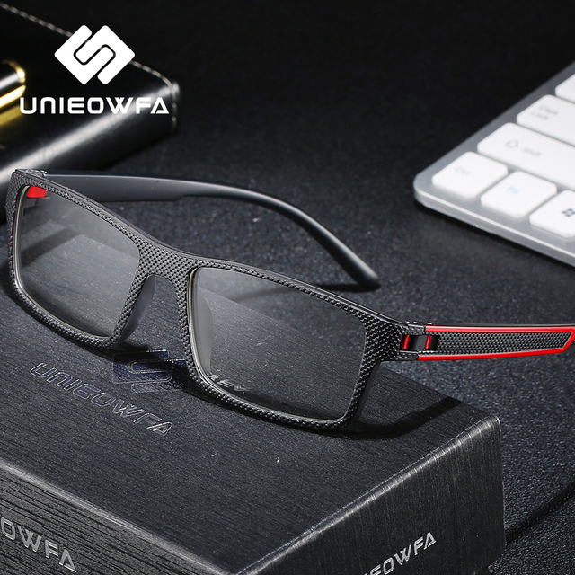 Optische Recept Brilmontuur Mannen Graden Bijziendheid Brillen Frame Clear Doorzichtige Bril Frame TR90 Rechthoek Eyewear