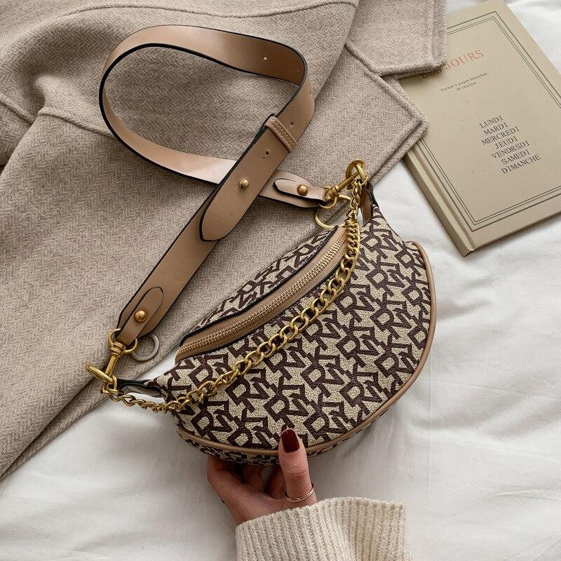 Letter Print Designer Shoulder Bag