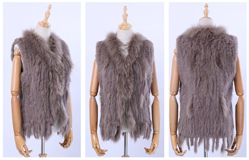 Hbe969250b13e404a97bc86a10e1d91a6J Brand New Women's Lady Genuine Real Knitted Rabbit Fur Vests tassels Raccoon Fur Trimming Collar Waistcoat Fur Sleeveless Gilet