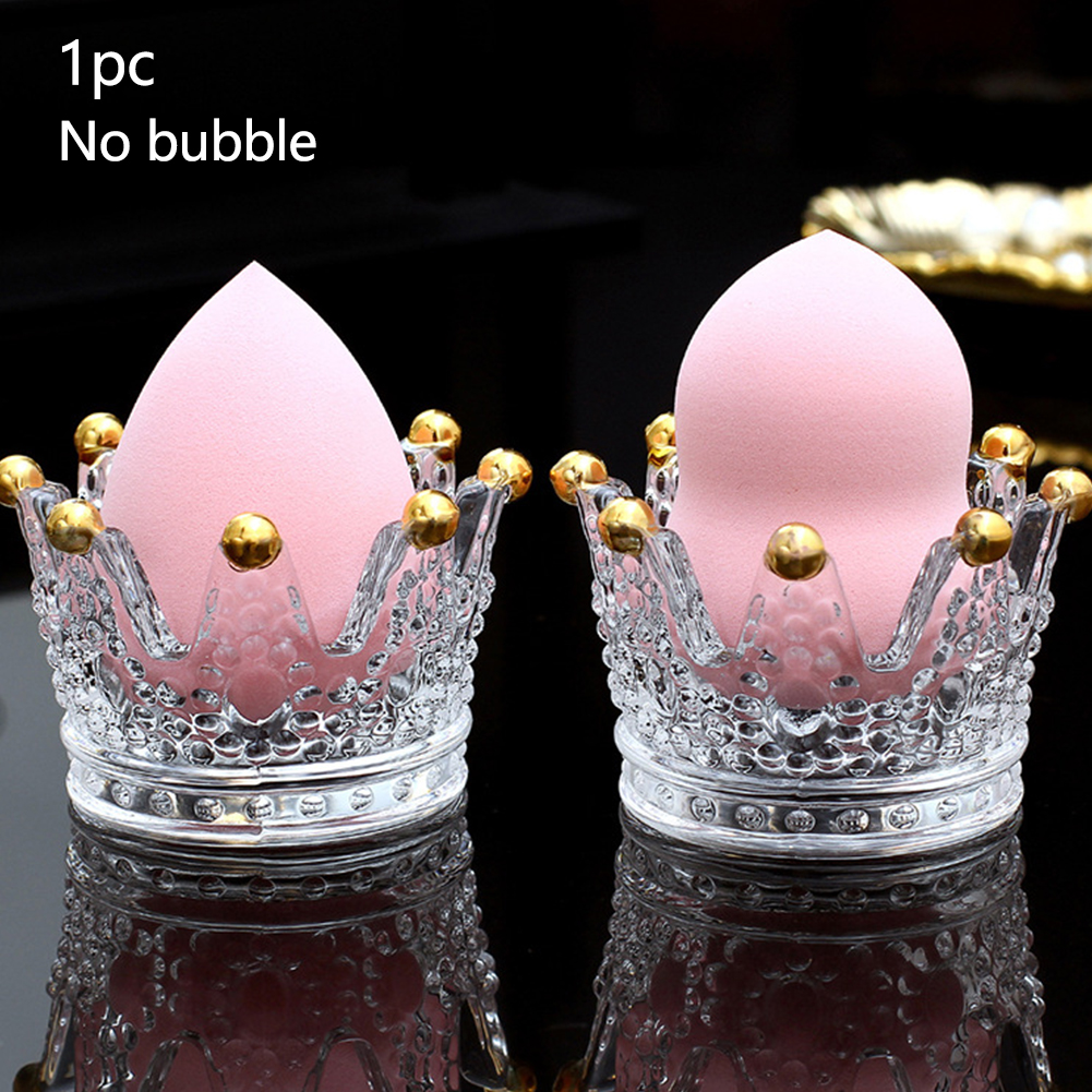 Puff Crown Shape Practical Storage Cosmetic Bathroom Desktop Ashtray Display Glass Dresser Makeup Sponge Holders Washable
