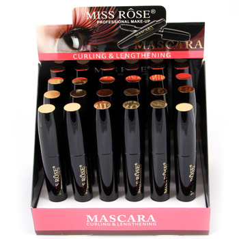 24PCS/LOT Miss Rose Professional Makeup Mascara Box Curling Thick Lengthening Mascara Waterproof Colossal Eyelash Mascara Set фото