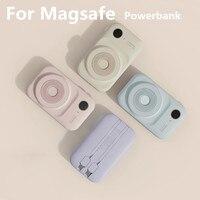 Per Magsafe Power Bank viene fornito con batteria esterna Mini Powerbank a doppia linea batteria ausiliaria per caricabatterie portatile per telefono cellulare