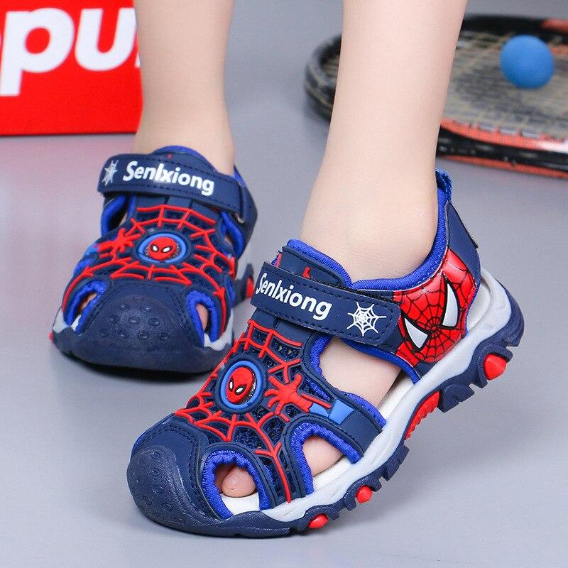 Boys Spiderman-Pattern Summer Sandals