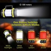 Tragbare LED Camping Licht USB Aufladbare Taschenlampe Dimmbare Scheinwerfer LED Camping Licht Im Freien Zelt Licht Wasserdicht