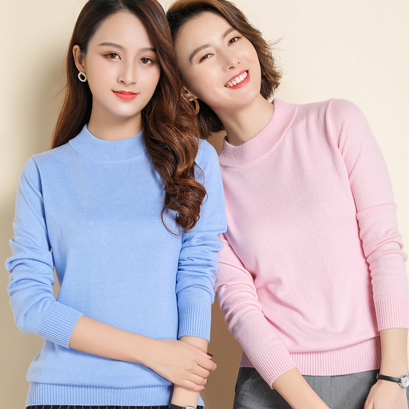 Autumn Winter New Sweater Women Turtleneck Cashmere Sweater Knitted Pullover Women Sweter Fashion Sweaters 2019 Plus Size Tops
