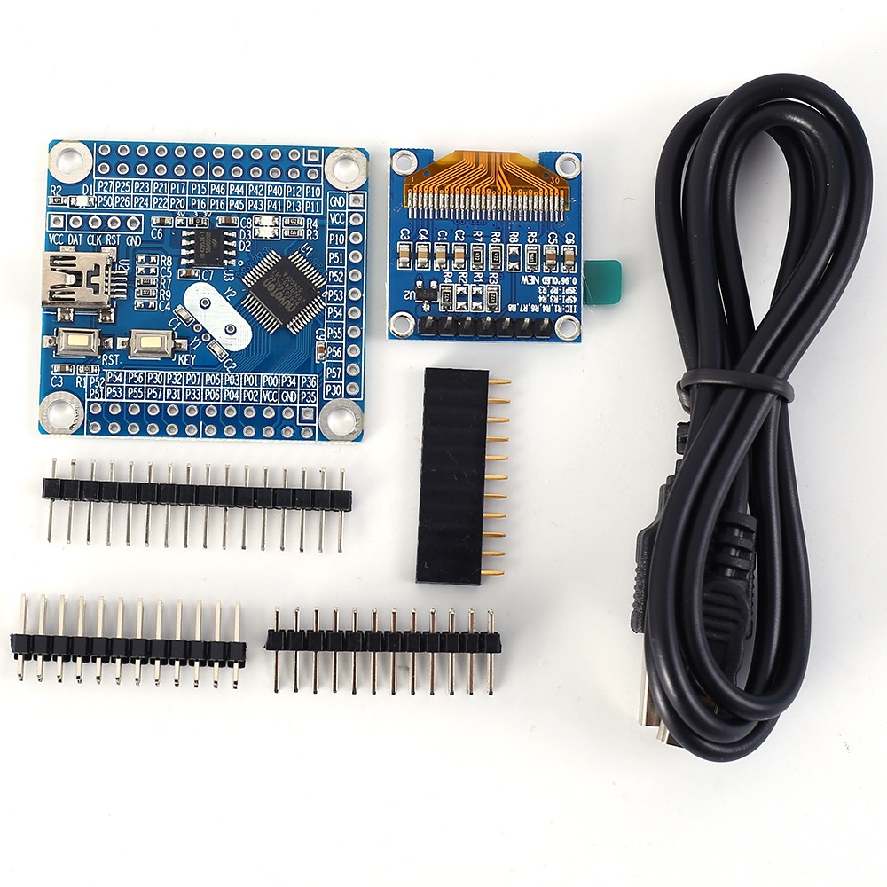 Development Board 0.96 inch OLED Display C51 Core Board Minimum System N76E616 with Serial Port One-Click Download 46IO