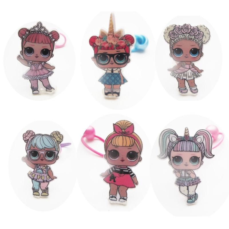 Girls Cute Colorful Cartoon LOL Surprise Hair Clips Sweet Princess Hair Ornament Headband Hairpins Kids Fashion Hair Accessories