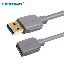 Anmck USB Extension Cable USB 3.0 Cable for Smart TV PS4 Xbox One SSD USB3.0 2.0 to Extender Data Cord 2m 3m 5m(China)