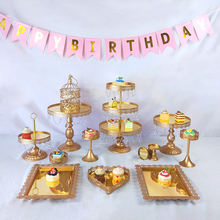 Get more info on the Tobs Cake Stand Set Mirror Crystals Decor Supplies Wedding Cupcake Tower Stand Dessert Display Party Decor Tray Metal Round
