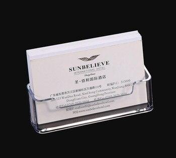 1 Uds. Caja de estante de escritorio transparente, soporte de exhibición de almacenamiento, soporte de tarjeta de visita de escritorio transparente de plástico acrílico 10*5*5,7 cm