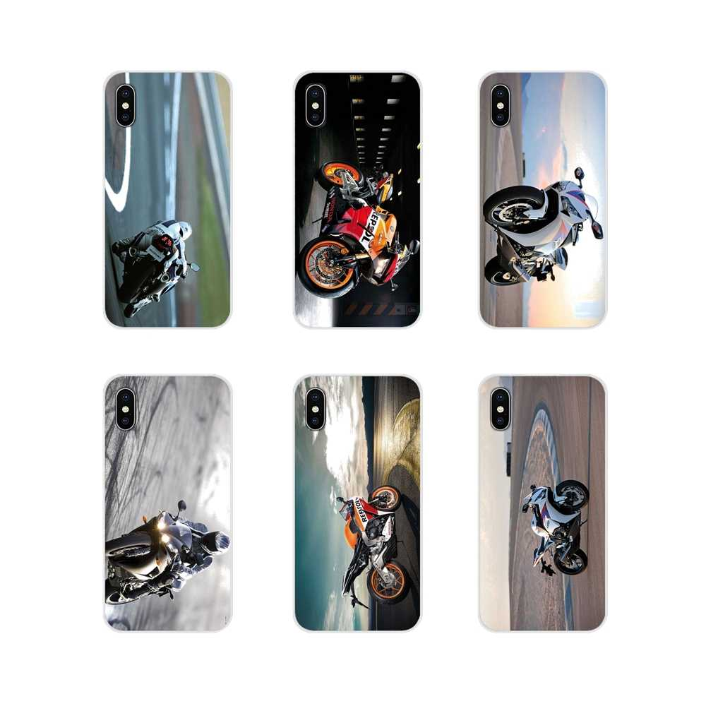 Untuk Apple Iphone X XR XS 11Pro Max S 5 4S 5 5C Se 6S 7 8 PLUS Ipod touch 5 6 HONDA CBR Balap Motor Valentin Ponsel Shell Cover