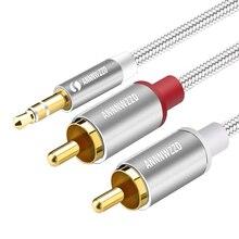 Cable RCA 2RCA a 3,5 cable de audio 3,5mm jack rca aux cable 0,5 m 1m 2m 3m 5m para teléfono Edifer DVD o cine en casa 2RCA de cable de audio