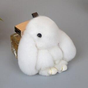Image 4 - Plush Rabbit Keychain Car Pendant Girl Car Accessories Interior Dashboard Decoration Fashion Bag Pendant Gift