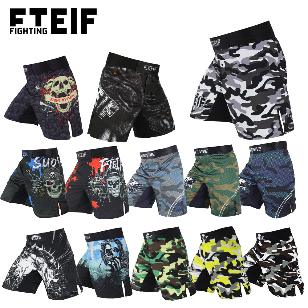 Pantalones cortos 2 Fit MMA para artes marciales mixtas kick boxing lucha libre dise/ño de camuflaje boxeo