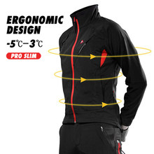Racmmer Winter Fietsen Jas Thermische Fleece Warm Up Fiets Kleding Winddicht Waterdicht Soft shell Jas MTB Bike Jersey(China)