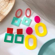46/5000 2019 New Acrylic Coloured Earrings Popular Accessories Seaside