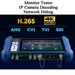 7 inch CVI AHD TVI SDI POE test RJ45 IP camera decoding debug PTZ control HDMI Analog Wifi Video CCTV Monitor Camcorder tester