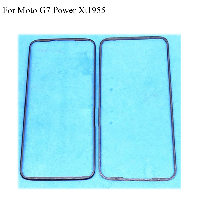 2PCS For Moto G7 Power Front Housing Chassis Plate LCD Display Bezel Faceplate Frame (No LCD) G 7 Power <font><b>parts</b></font> <font><b>Xt1955</b></font> image