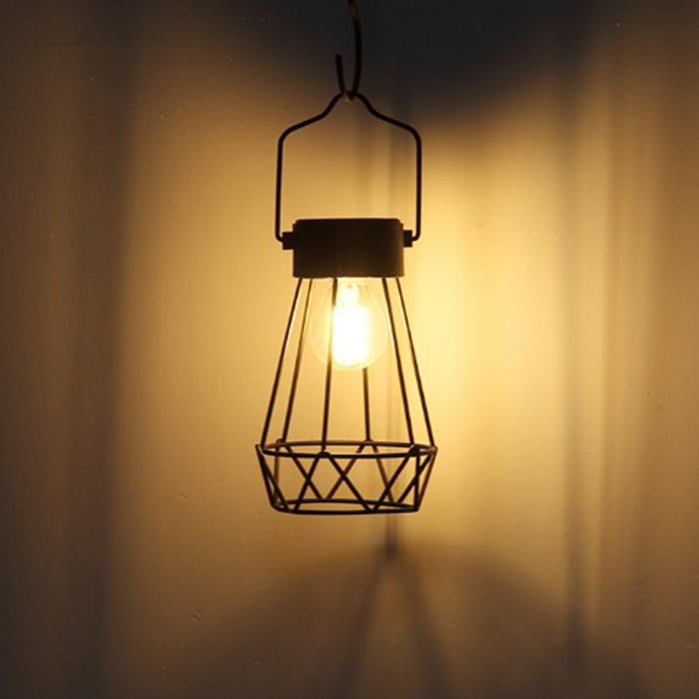 Outdoor Solar Lanterns Lamps Tabletop Filament Tungsten Bulbs Hanging Solar Powered Garden Patio Lawn Decorative Table Lights