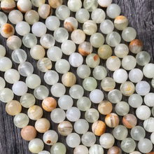 White Light Green Jade 4 6 8 10 12MM Jasper Gemstone Round Gem Stone Loose Beads for Bracelet Necklace Jewelry Making(China)